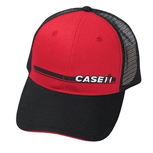 Case IH Black and Red Trucker Mesh Hat - tractorup2
