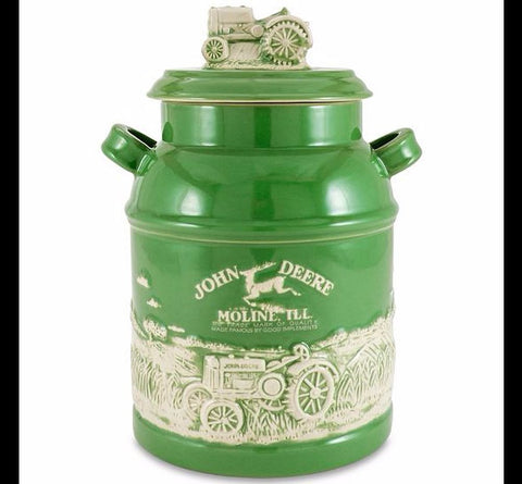 John Deere Milk Can Cookie Jar