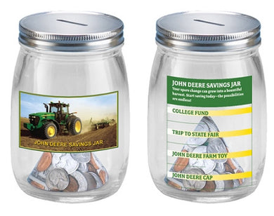 John Deere Glass Savings Jar - tractorup2