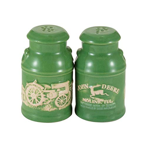 John Deere Raised-Relief Milk Can Salt & Pepper Set - tractorup2