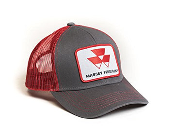 Massey Ferguson Tractor Hat, Gray with Red Mesh Back