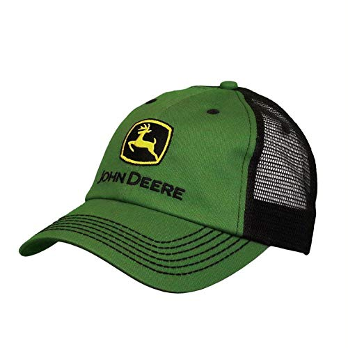 John Deere Mesh Backed Hat with Construction Logo, Green - tractorup2