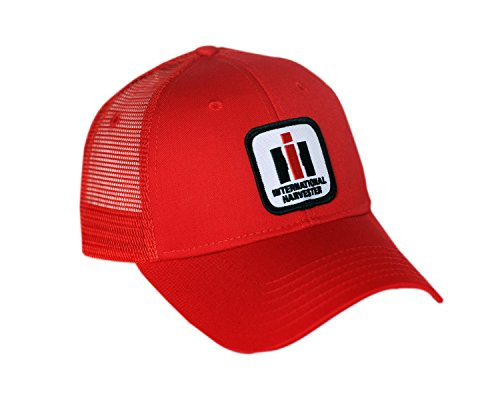 International Harvester IH Logo Hat, red mesh - tractorup2