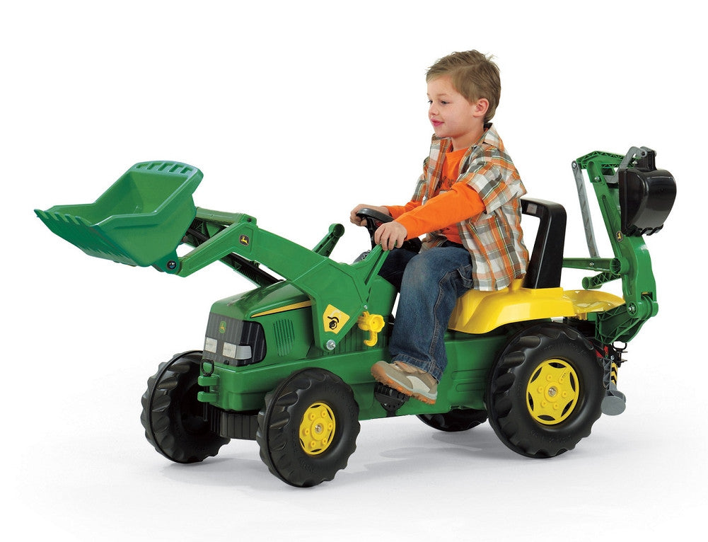 John Deere Ride On Toys >> John Deere Riding Pedal Tractor With Backhoe