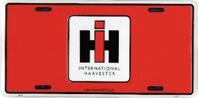 International Harvester Red License Plate - tractorup2