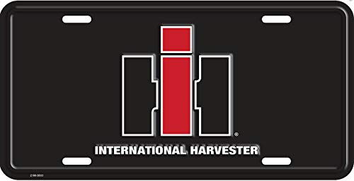 IH International Harvester Standard Size License Plate, Black