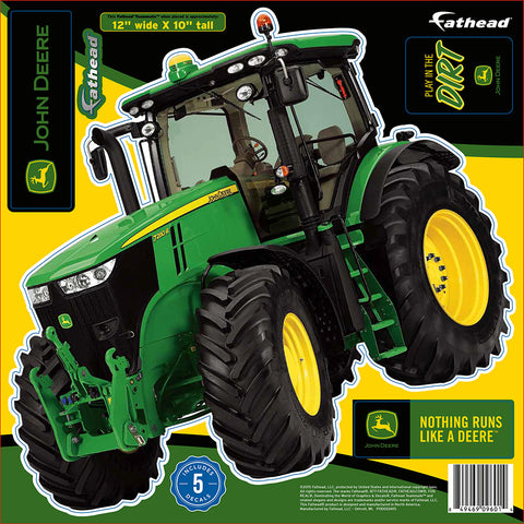 "John Deere 7280R Tractor 12""x10"" FatHead Peel and Stick Decal"