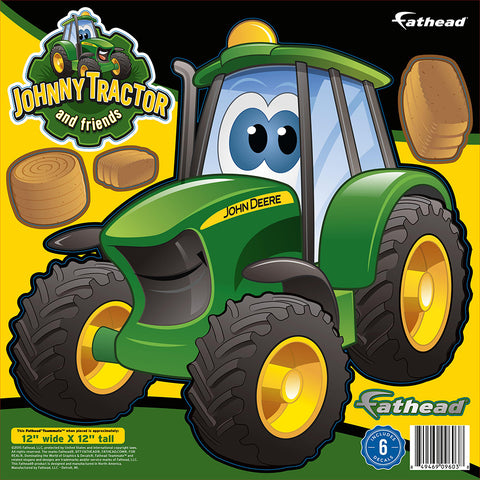 "John Deere Johnny Tractor 12""x12"" FatHead Peel and Stick Decal"