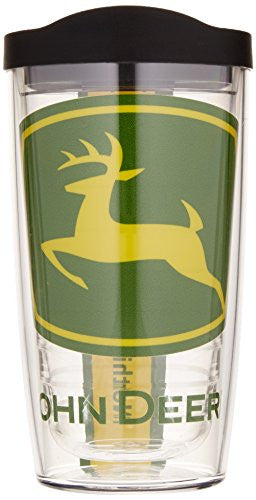 Tervis John Deere Logo Colossal Wrap Tumbler with Black Lid, 16-Ounce