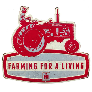 Farmall Embossed Metal Tractor Sign - tractorup2