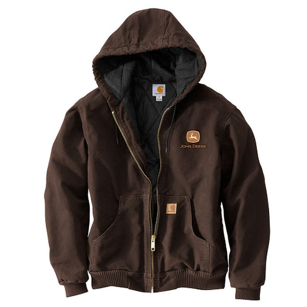 John Deere Carhartt Dark Hooded Jacket
