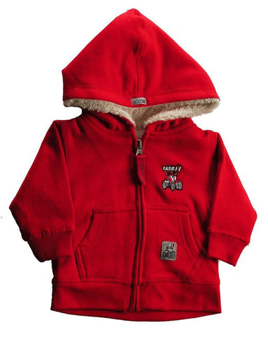 Case IH Little Boys' Pullover Sherpa Lined Tractor Sweatshirt