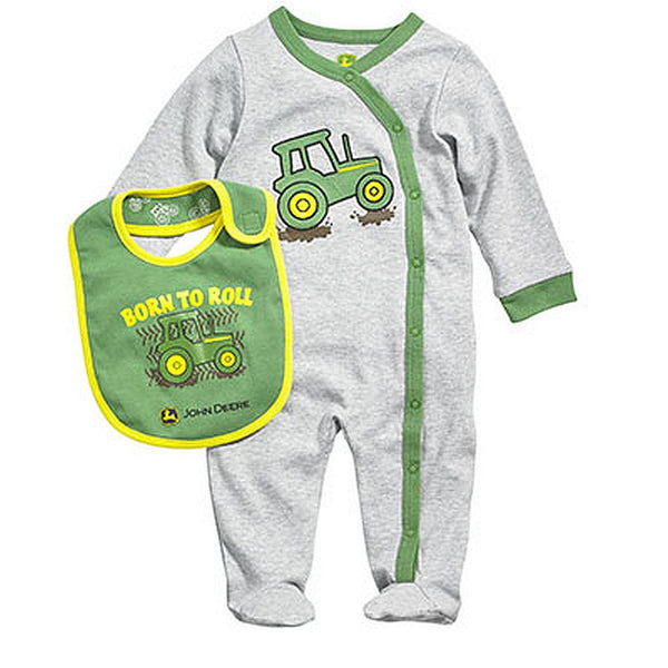 John Deere Baby Born to Roll Coverall Layette Set