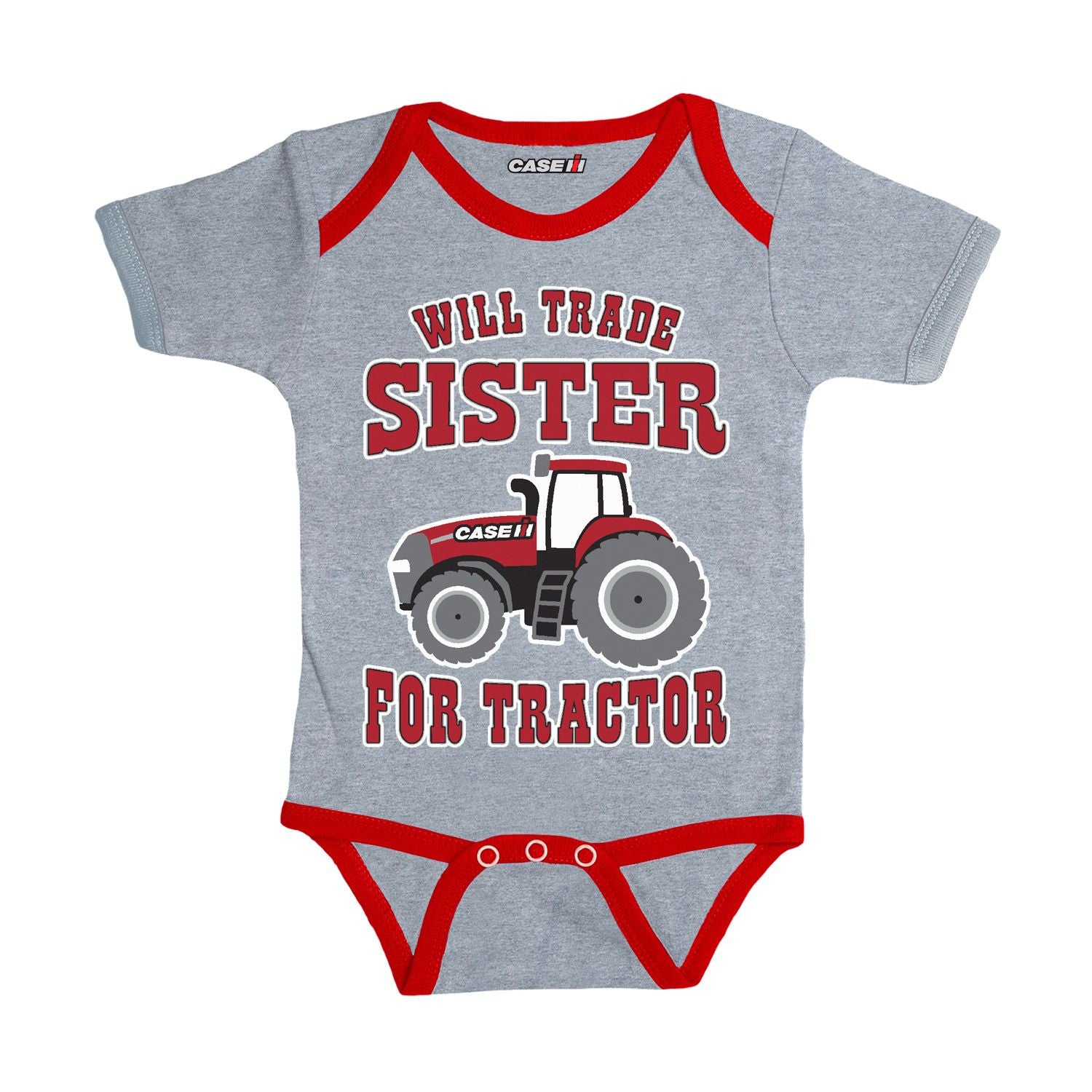 Case IH Will Trade Sister Infant Tractor Bodysuit - tractorup2