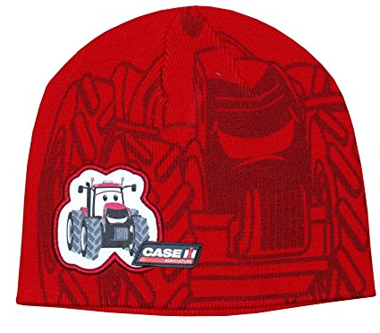 Toddler's CaseIH Appliqued & Printed Red Knit Beanie