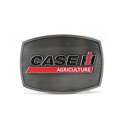 Case IH AG Logo Brushed Pewter Buckle