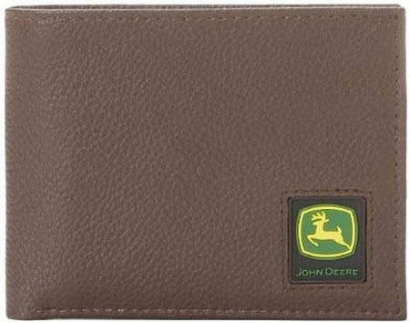 john deere brown passcase wallet
