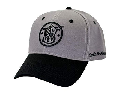 Smith & Wesson S&W Gray & Black Logo Cap - Officially Licensed - tractorup2