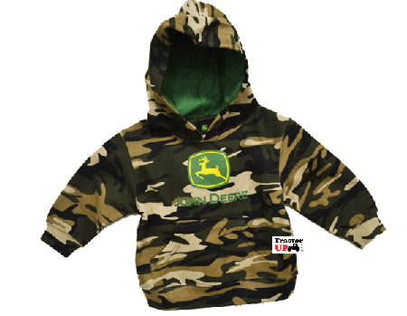 John Deere Infant Camo Hooded Sweatshirt (12 Month) - tractorup2