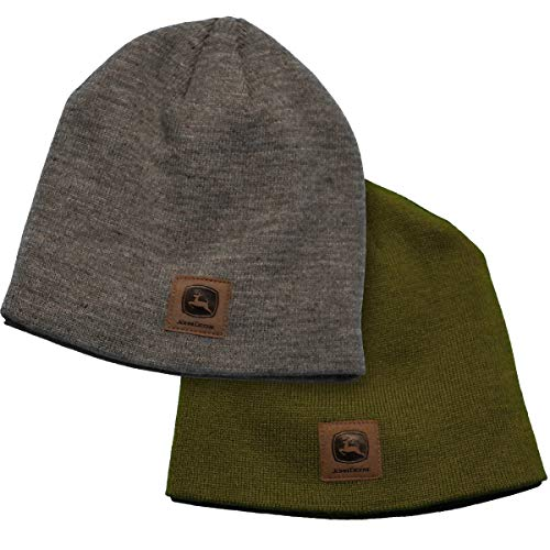 John Deere Package of 2 Gray and Olive Beanies