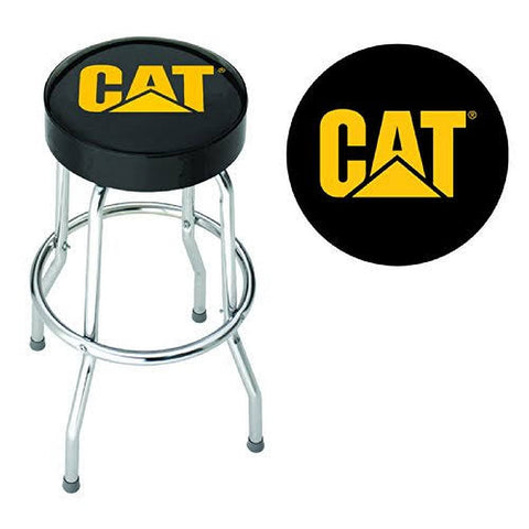 Caterpillar Garage Stool, Black with Logo