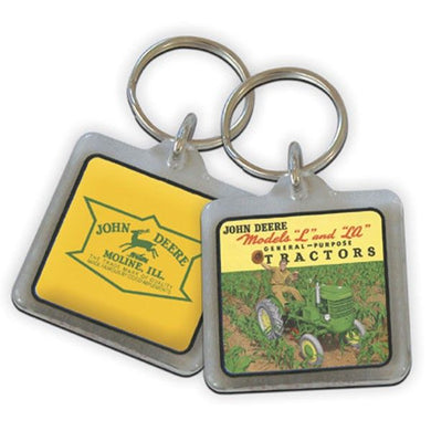 John Deere 06024 JD Model L Key Chain with Picture and Logo - tractorup2