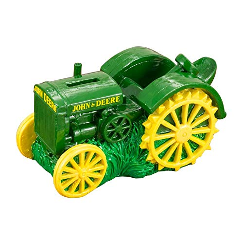John Deere Polyresin Vintage Tractor Savings Bank