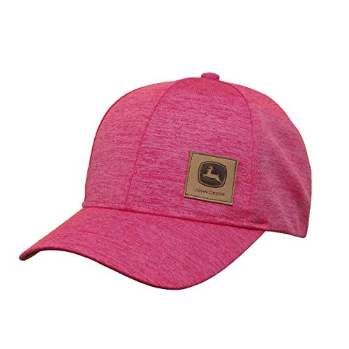 John Deere 6 Panel Hat Space Dye-Medium Pink - tractorup2