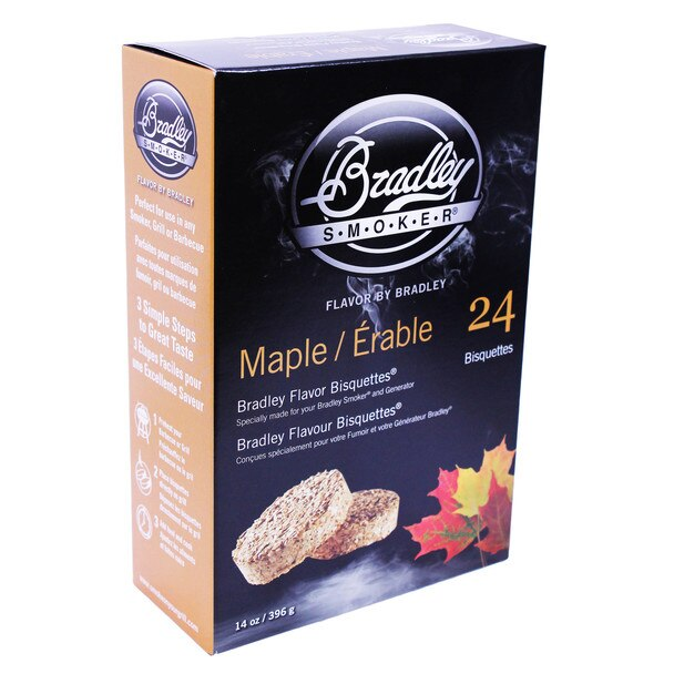 Bradley Smokers 106693 Maple Bisquettes Smoker, 24-Pack - tractorup2