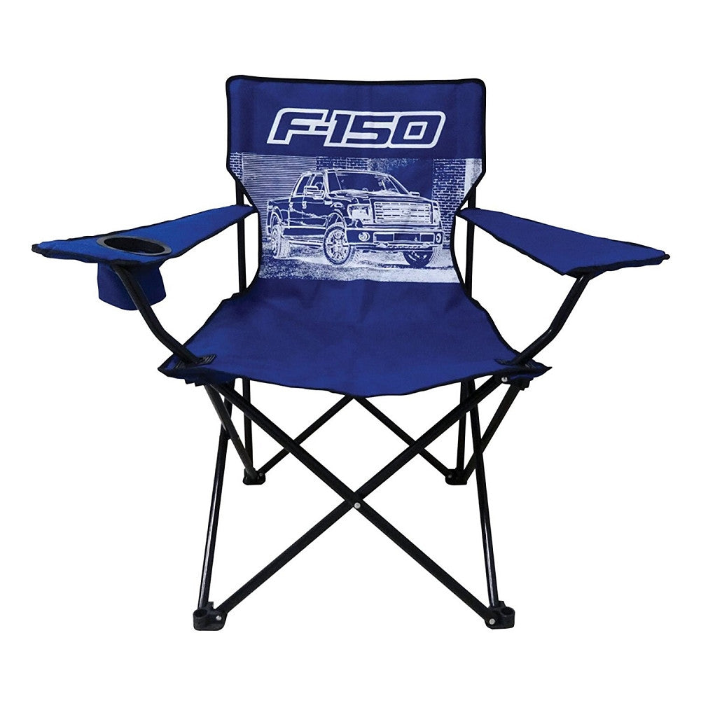 Ford F-150 Truck Big Man Camp Chair with Cup Holder - tractorup2