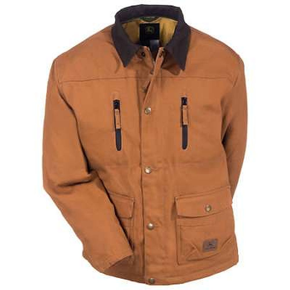 John Deere Insulated Duck Barn Collar Jacket - tractorup2