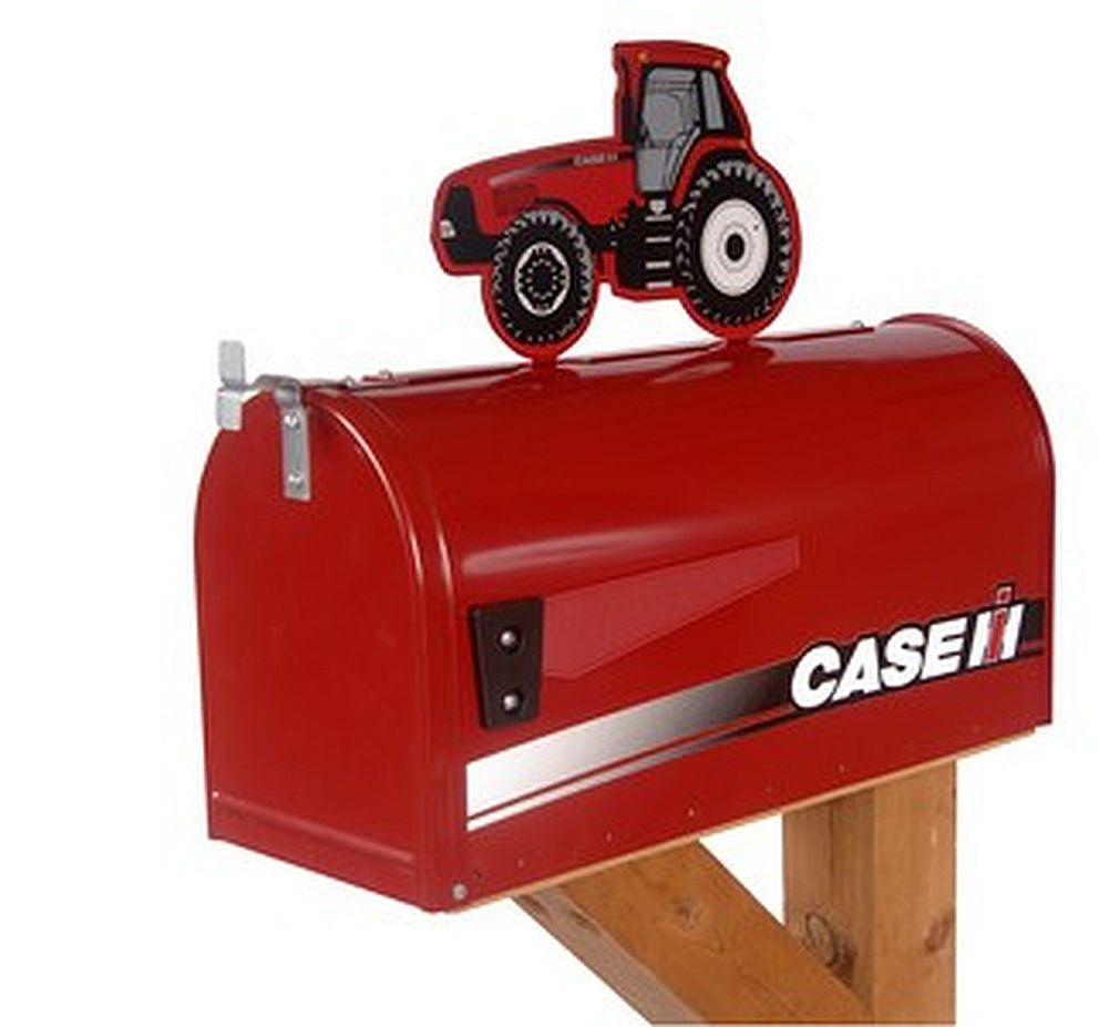 Case IH Rural Style Mailbox with Tractor Topper - tractorup2
