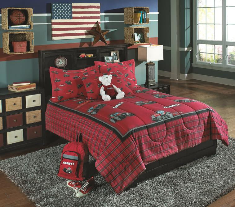Case IH Tractor Full/Queen Comforter Set w/Shams - tractorup2