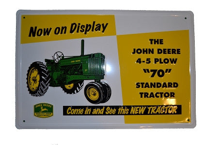 John Deere Model 70 Logo Embossed Sign