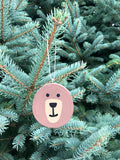 Brown Bear Tree Slice Ornament