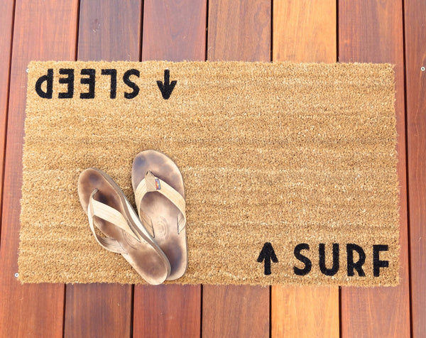 Surf/Sleep Door Mat (doormat) - beach cottage décor