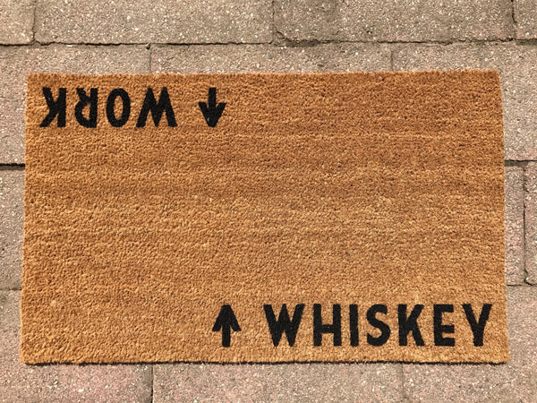 Whiskey / Work Door Mat (doormat)