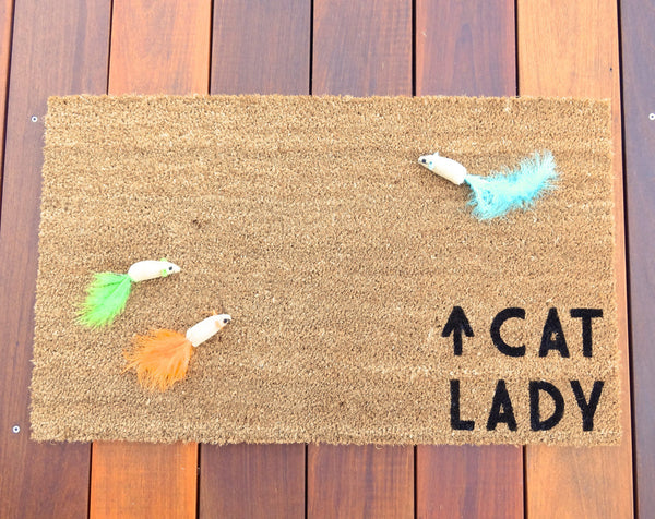 Cat Lady Door Mat (doormat) - Cat Decor, Cat Owners, Cat Lover, Kitten, Cat, Pet Gift, Funny Doormat