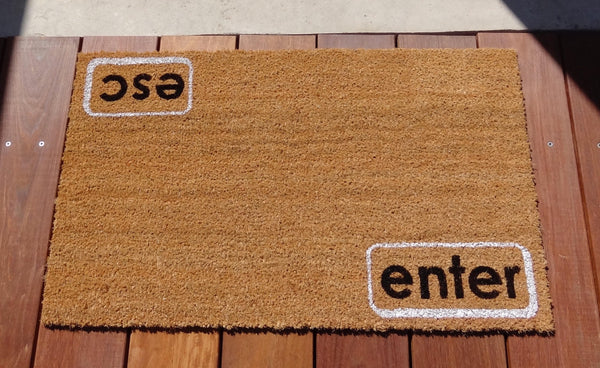 Enter / Esc Door Mat ©
