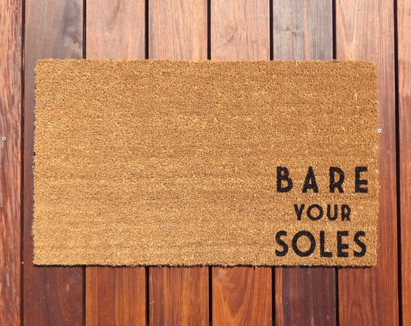 Favorite Bare your Soles Door Mat (doormat) - Let guests know to take off  YN04