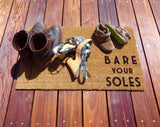 Bare your Soles Door Mat (doormat) - lets your guests know to take off shoes