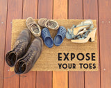 Expose Your Toes Door Mat ©