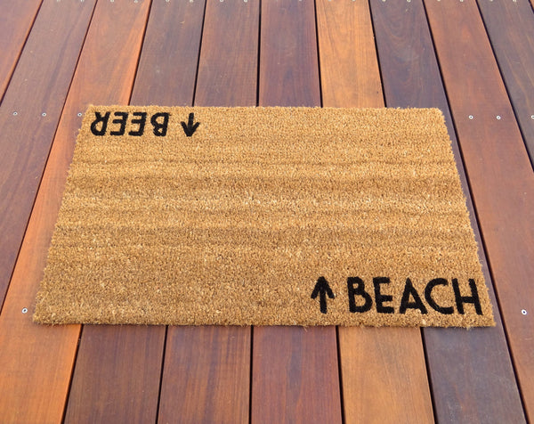Beach / Beer Door Mat ©