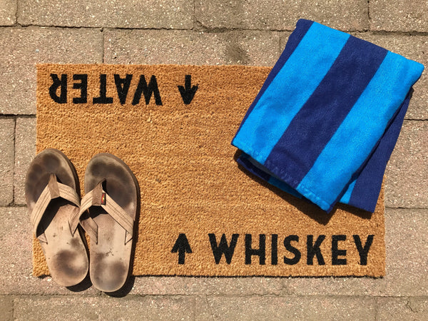 Whiskey / Water Door Mat (doormat)