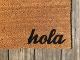 Hola / Adios Door Mat (doormat) - Spanish - Perfect Housewarming Gift