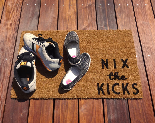 Nix the Kicks Door Mat ©