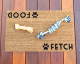 Food / Fetch © , Dog Door Mat