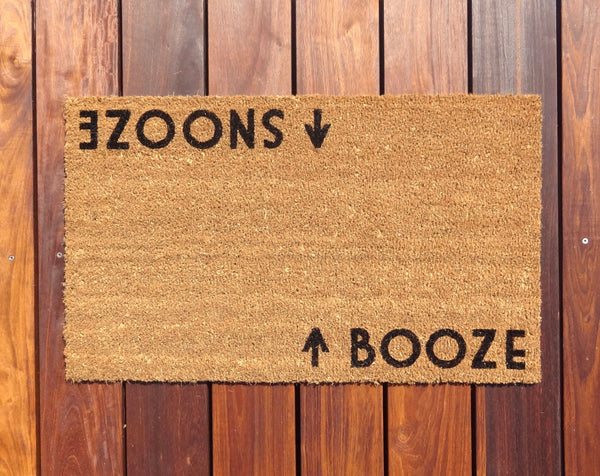 Booze / Snooze Door Mat (doormat)