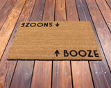 Booze / Snooze Door Mat ©