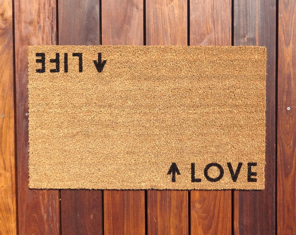 Life / Love Door Mat (doormat) - perfect housewarming gift